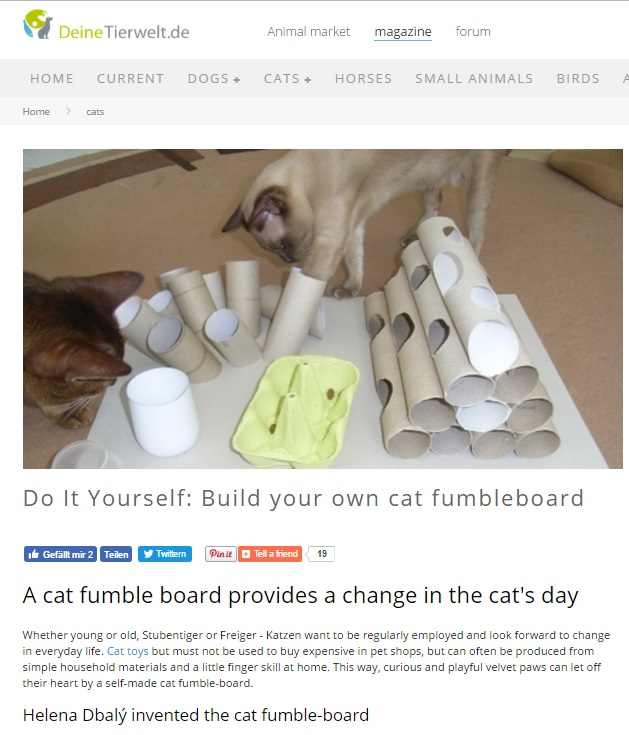 Fumbleboards And Fummel Boxes Oh My Food Puzzles For Cats